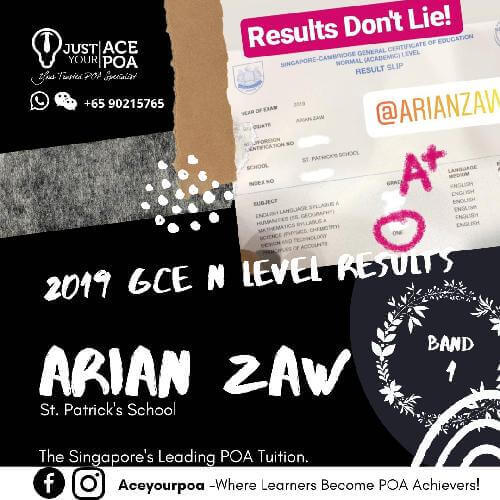 Arian Zaw Ace Your POA Tuition Band 1 N level 2019