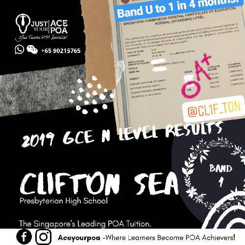 Clifton Sea Ace Your POA Tuition Band 1 N level 2019