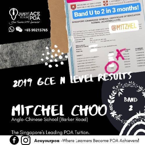 Mitchell Choo Ace Your POA Tuition Band 2 N level 2019