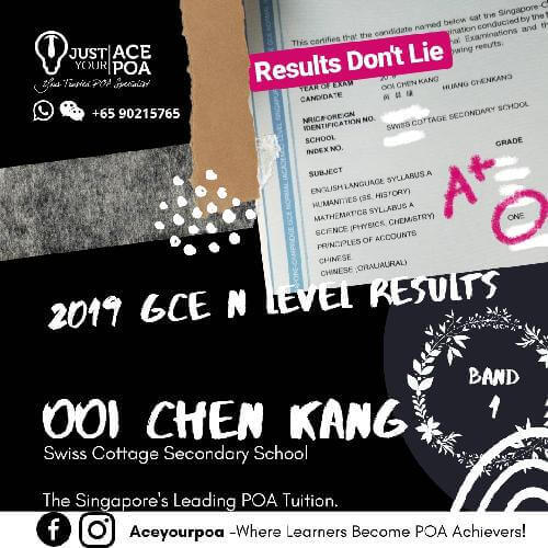 Ooi Chen Kang Ace Your POA Tuition Band 1 N level 2019
