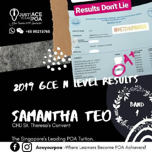 Samantha Teo Ace Your POA Tuition Band 1 N level 2019
