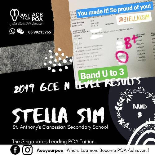 Stella Sim Ace Your POA Tuition Band 3 N level 2019