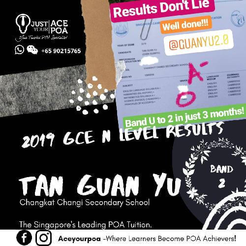 Tan Guan Yu Ace Your POA Tuition Band 2 N level 2019
