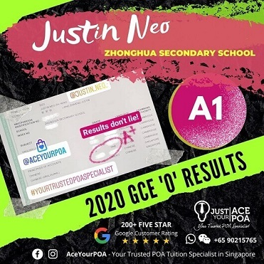 2020 GCE O Level Ace Your POA Results Justin Neo
